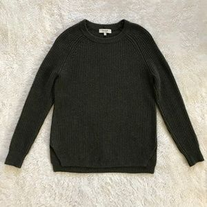 Madewell 100% Cashmere Sweater Olive Green XS